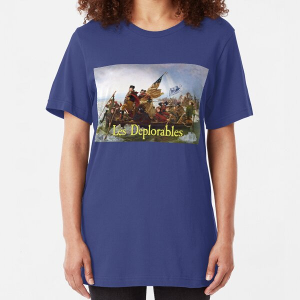 Les Deplorables Crossing the Delaware Slim Fit T-Shirt