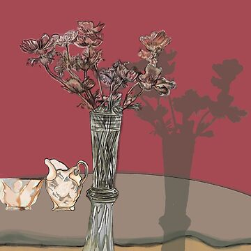 flowers in a vase by jackpoint23