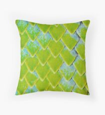 Emerald Viper Scales Throw Pillow