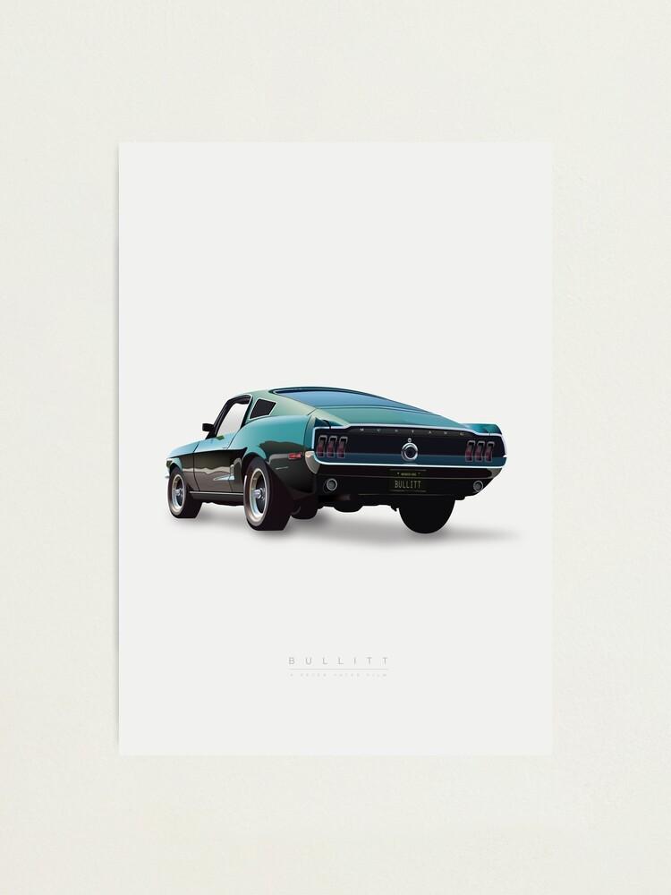 Alternate view of Bullitt - Alternative Movie Poster Photographic Print
