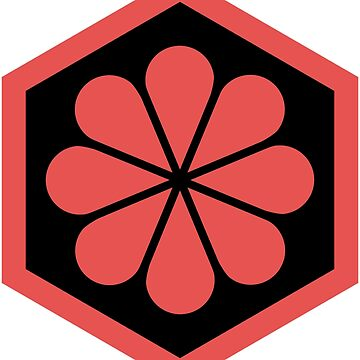 Geometric Pattern: Hexagon Flower: Black/Red by redwolfoz
