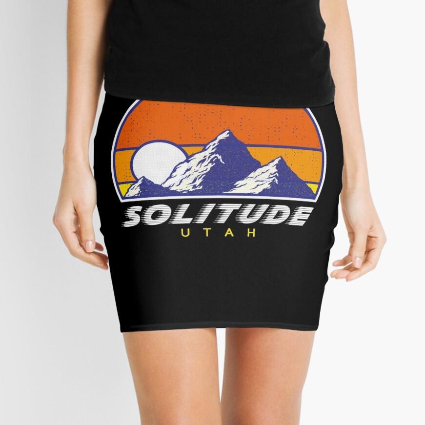 Einsamkeit Utah - USA Ski Resort 1980er Jahre Retro Kollektion Shirt Minirock