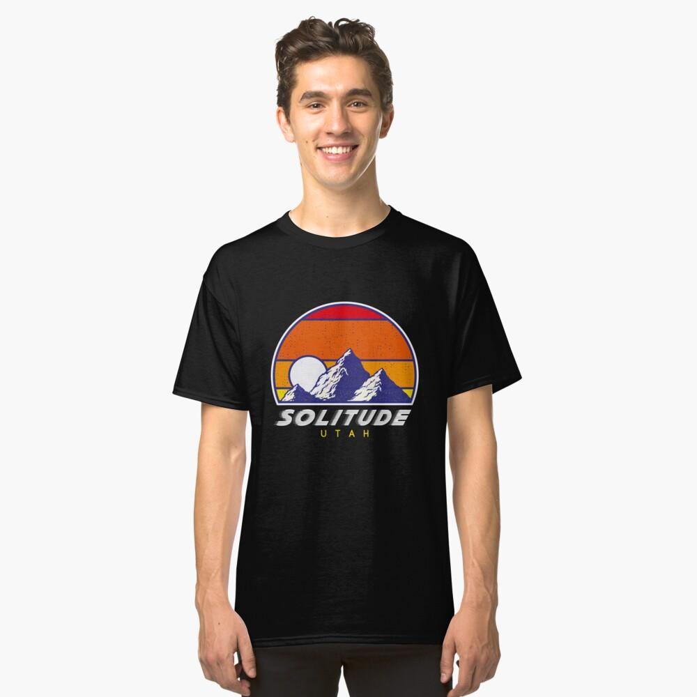 Einsamkeit Utah - USA Ski Resort 1980er Jahre Retro Kollektion Shirt Classic T-Shirt