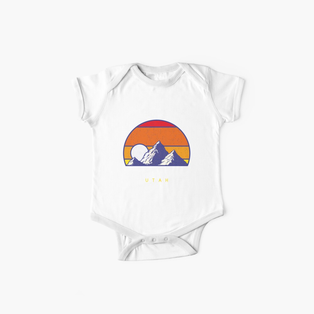 Einsamkeit Utah - USA Ski Resort 1980er Jahre Retro Kollektion Shirt Baby Body
