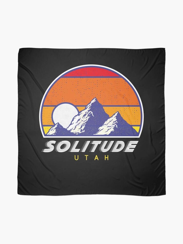 Alternative Ansicht von Einsamkeit Utah - USA Ski Resort 1980er Jahre Retro Kollektion Shirt Tuch