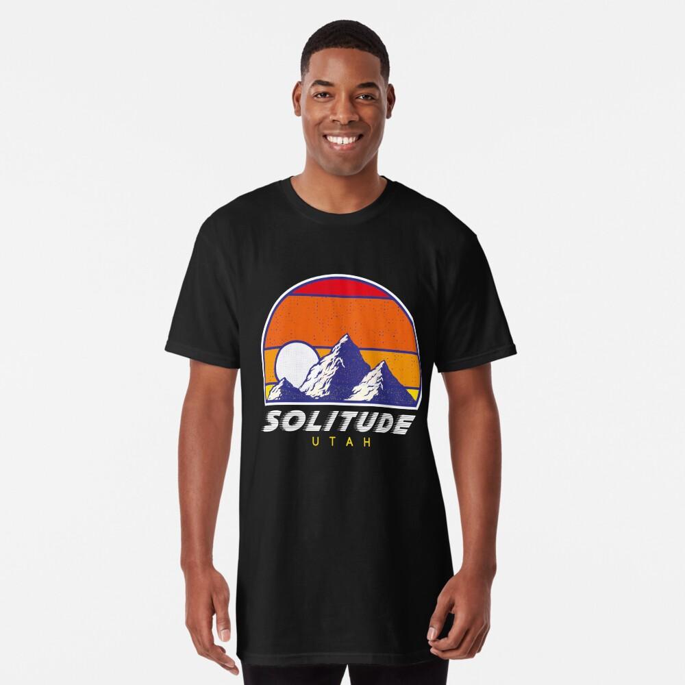 Einsamkeit Utah - USA Ski Resort 1980er Jahre Retro Kollektion Shirt Longshirt