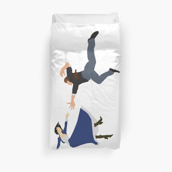 bioshock fall Duvet Cover