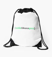 Code Like a Pro Drawstring Bag