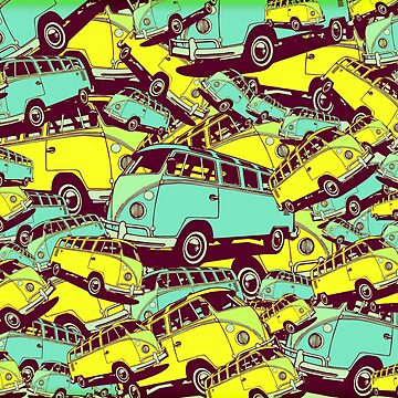 AUTOMOBIL VW bus camper vacation traffic chaos by Mauswohn