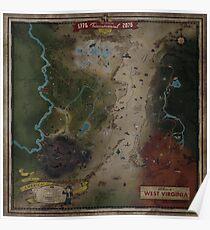 Fallout 76 World Map Poster