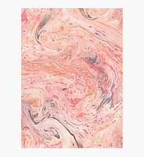 Red marble pattern #3 Photographic Print