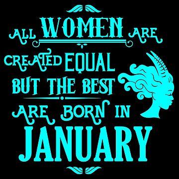 Women Born in January Capricorn Birthday Shirt Turquoise by LarkDesigns