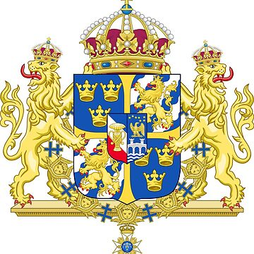Greater Coat of Arms of the Kingdom of Sweden - Without Ermine Mantling by mullelito