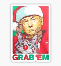 Donald Trump Grab 'em by the Pussy Christmas Sticker