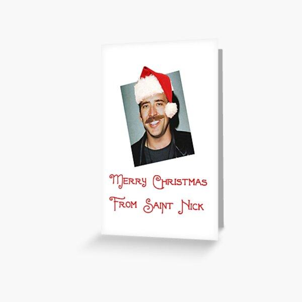 Saint Nicholas Cage Greeting Card