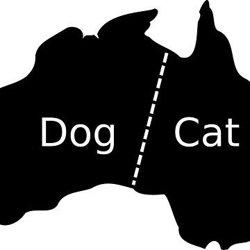 Australia Cat and Dog Head in Map by studiopico