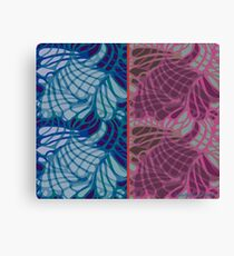 Blue and Purple Abstract Canvas Print