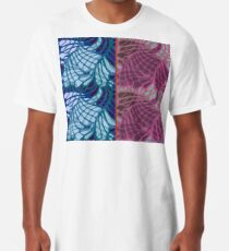 Blue and Purple Abstract Long T-Shirt