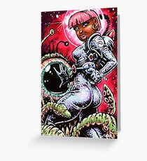 SPACE BABE 1 Greeting Card