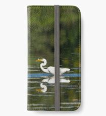 Egret Fish Feast iPhone Wallet/Case/Skin