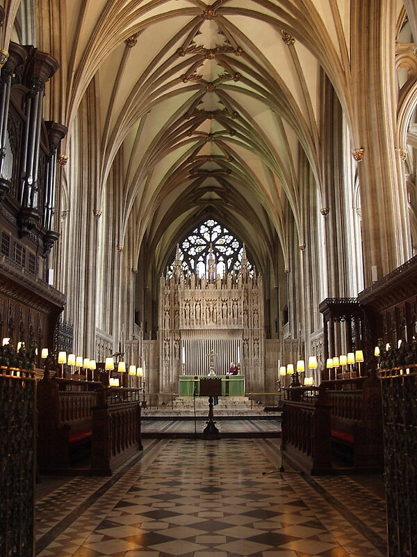 Bristol Cathedral ;  Choir and High Altar by Andrew  Bailey