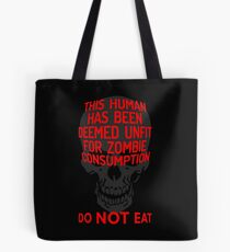 Safety Shirt for Zombie Apocalypse Tote Bag