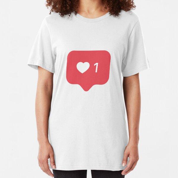 Instagram Like - Insta Like - Insta Heart 1 Slim Fit T-Shirt