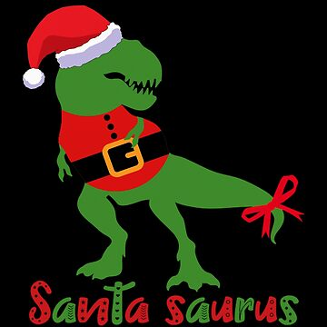 Santa Saurus - Christmas Shirt for Boys Kids Dinosaur T-Rex Gift Pajama Men by MrTStyle