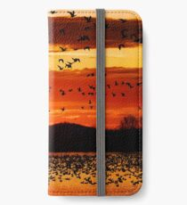 Snow Geese Flying at Sunrise iPhone Wallet/Case/Skin