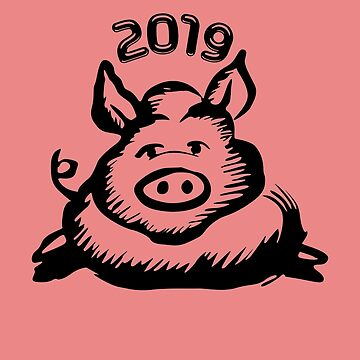 Chinese Year of the Pig 2019 by Natalia-Art