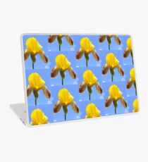 yellow iris Laptop Skin