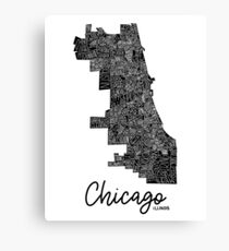 Chicago Map Canvas.Chicago Map Canvas Prints Redbubble