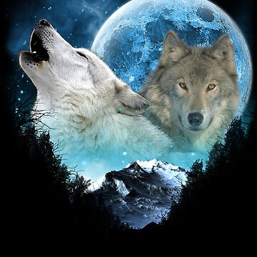 Mating Call Wolves Full Moon Escape by ratherkool