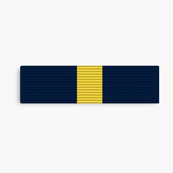 Navy Distinguished Service Medal ribbon | United States Service Ribbon Bars - Navy Canvas Print