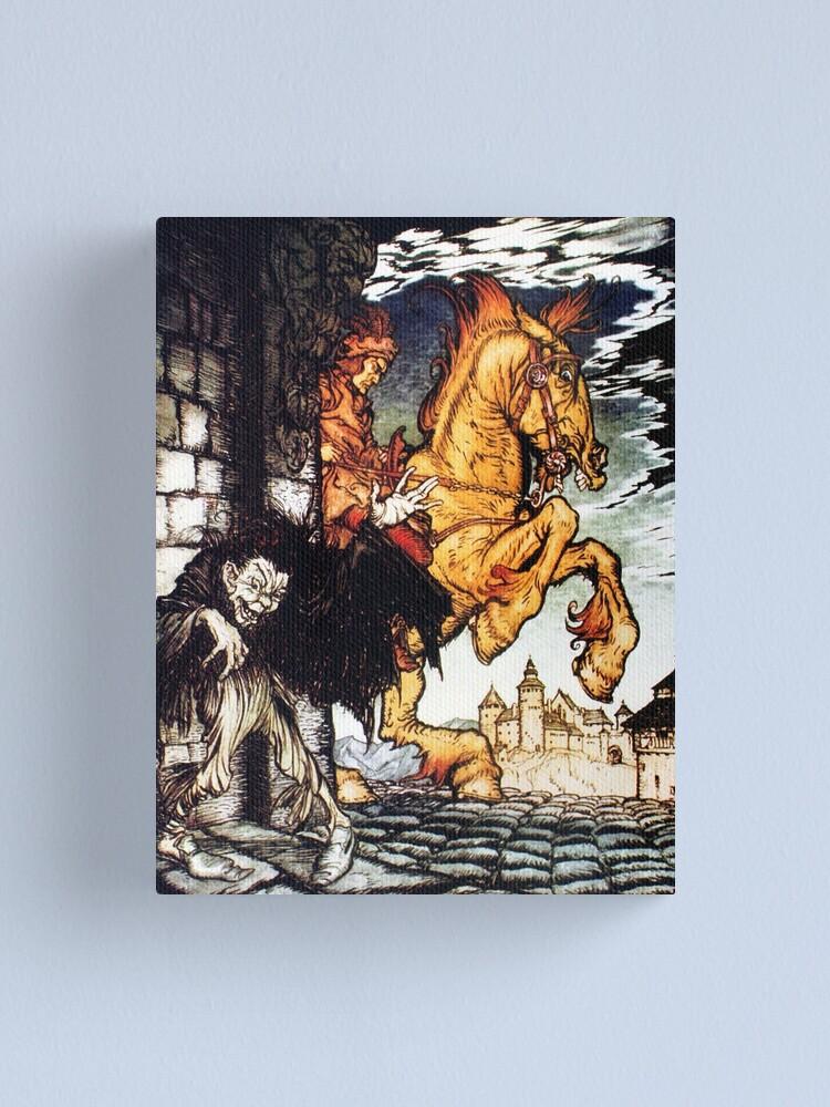 Edgar Allen Poe 1935 Metzengerstein by Arthur Rackham 6x5 Inch Print