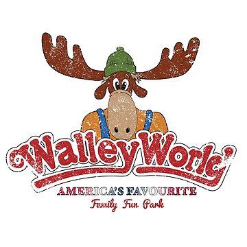 Walley World - America's Favourite Logo Distressed by Purakushi