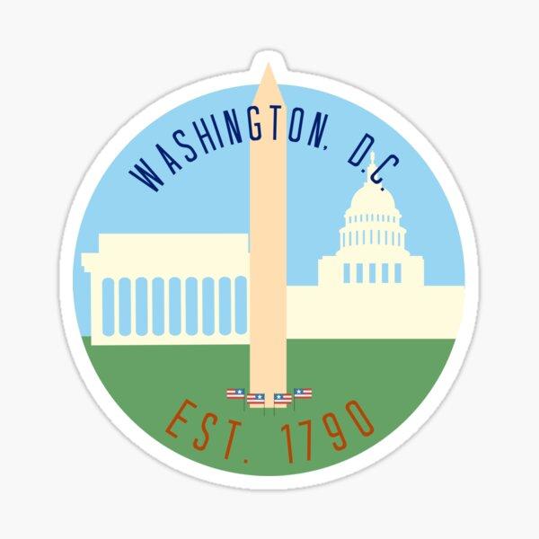 Washington D.C. Sticker Sticker