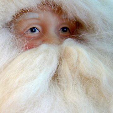 Santa Contemplating the Big Job Ahead by AuntDot