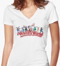 Walley World - Full Character Logo Women's Fitted V-Neck T-Shirt