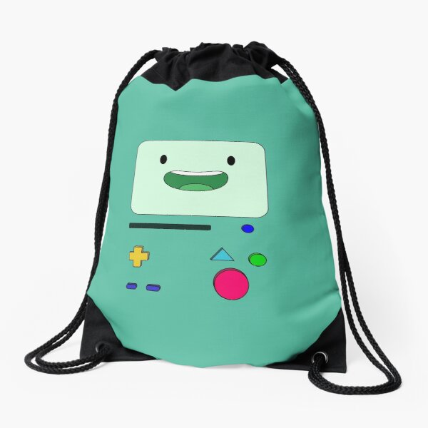 BMO sits and waves - AdventureTime™ Drawstring Bag