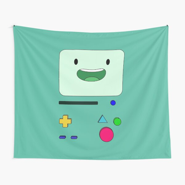BMO sits and waves - AdventureTime™ Tapestry