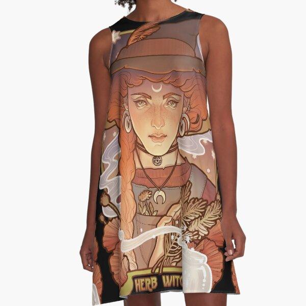 HERB WITCH A-Line Dress