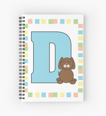 D is for Dog Spiral Notebook