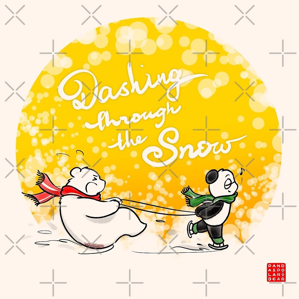 Dashing Through The Snow by Panda And Polar Bear