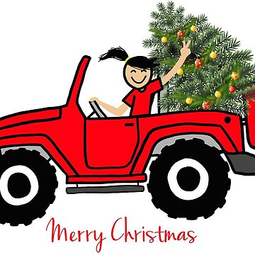 Red Jeep Wave - Merry Christmas by indicap