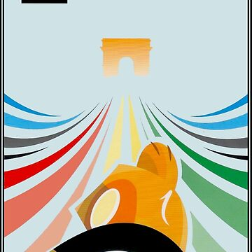 TOUR de FRANCE : Abstract Advertising Print by posterbobs