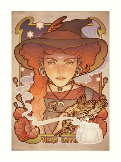 HERB WITCH by Medusa Dollmaker