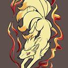 Kitsune Fire Spirit by Dragonmelde