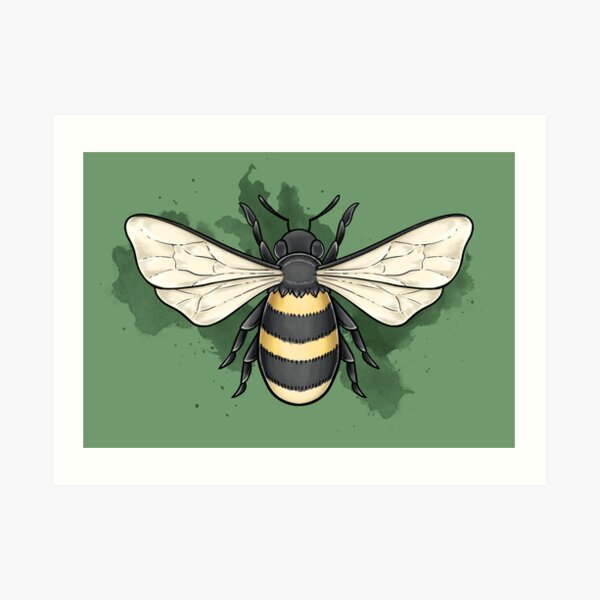 Bumble bee Art Print