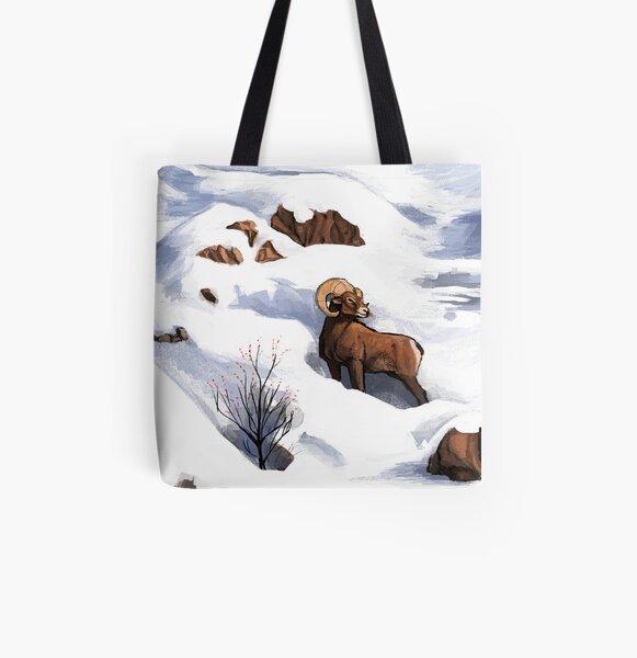 Bighorn Sheep : Christmas 2018 All Over Print Tote Bag